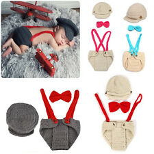 Newborn Baby Boy Girl Crochet Knit Hat Outfit Photography Photo Prop Costume