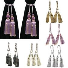 2Pcs Curtain Tiebacks Elegant Tassel Rope Window Drapery Holdbacks Tie Backs