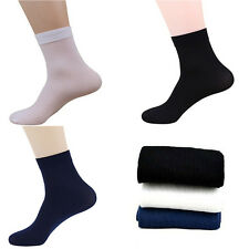 2 Pairs Fashion Ultra-Thin Male Breathable Socks Mens Bamboo Fiber Socks Solid