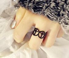 NEW Peace Silver Gold Ring Band Wrap Rings Women Jewelry Vintage Fashion Gift