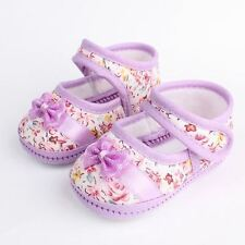 Baby Girls Bow Flower Shoes Footwear First Walkers 3 Colors