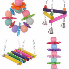 Funny Pet Bird Swing Hanging Toy Parrot Parakeet Cockatiel Cage Nest Toys