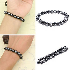 Hot Men Women's Magnetic Hematite Bracelet Pain Relief Energy Powerful Elastic