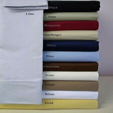 Fitted Sheet+2 Pillow Case 1000TC Egyptian-Cotton Solid-Stripe Select your size