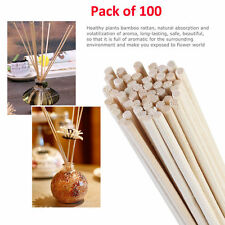 100 X Oil Diffuser Fragrance Replacement Rattan Reed Refill Sticks for Hotel Spa
