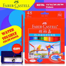 12/24/36/48/60 Faber Castell Color Pencils Water Soluble Color Drawing Set+Brush