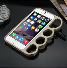 Rings frame Knuckles aluminum alloy metal bumper For iphone 5s 6s Plus Case skin