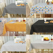 Home Kitchen Decor Cotton Linen Tablecloth Simple Dining-Table Cloth Covers