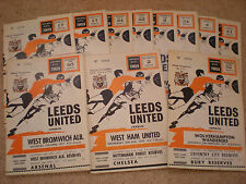 LEEDS UNITED FOOTBALL PROGRAMMES PROGRAMMES 1970-71 Select the One you Want