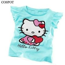 Baby Girls Summer Hello Kitty T-shirt Girl Cute Cotton T-shirt
