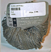 Artful Yarn Flora Cotton Blend Yarn Color #6139 Pussywillow Loom Knit Crochet