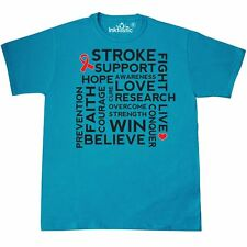 Inktastic Stroke Awareness Support Research T-Shirt Ribbon Prevention Recovery