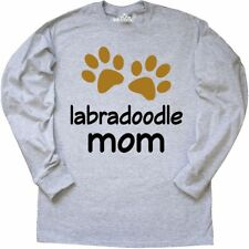 Inktastic Labradoodle Mom Paw Print Long Sleeve T-Shirt Dog Breed Mixed Hybrid
