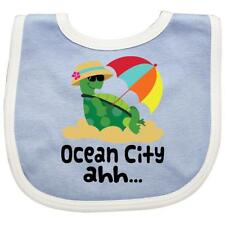 Inktastic Ocean City Maryland Baby Bib Cities Towns Travel Places States Gift