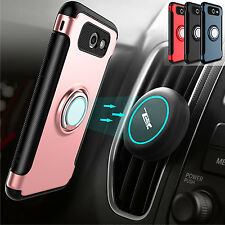 Car Vent Mount Holder+Ring Kicktand Case For Samsung Galaxy J3 Prime/Emerge 2017