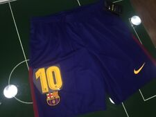 FOOTBALL SHORTS SHORTS NIKE 2017/2018 BARCELONA MESSI #10 HOME BLU