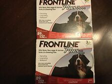 FRONTLINE PLUS FLEA AND TICK CONTROL FOR DOGS 89-132 LBS 6 MONTH SUPPLY