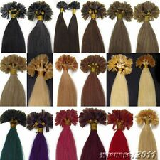 7A 16-26Inch Pre Bonded U/Nail tip Keratin Remy Human Hair Extensions blonde