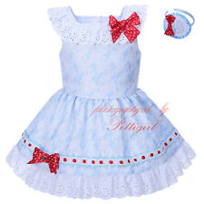 Baby Girls Floral Dress with Headband Spanish Wedding Party Pageant Christening