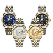 TEVISE Mens Stainless Steel Automatic Date Mechanical Luminous Watch Gift