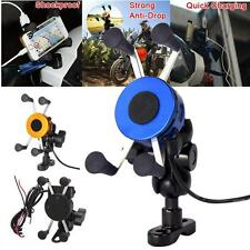 Universal Motorcycle Bicycle MTB Handlebar Mount Holder Charger For Phone GPS HZ