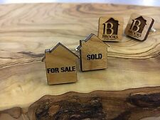 Personalised Hand Crafted  Wooden & Silver Plated ,Estate Agent, Sold /For Sale