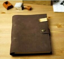 Leather Vintage Notebook Journal Diary Retro Handmade Embossed Blank Book Paper