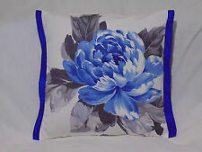 Designers Guild floral 100% Cotton Fabric Charlottenberg Cobalt Cushion Cover
