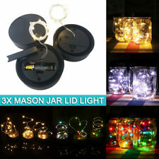 3PCS Mason Jar Lid Light LED Fairy Light AAA Battery Operated LED String Lights