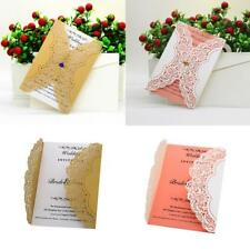 10pcs Reception Place Invitation Cards Kits Birthday Baptism Wedding Supplies