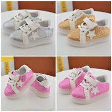 Toddler Kid Boy Girl LED Light Glitter Soft Casual Sport Shoes Sneakers Trainers