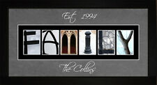 Personalized Art - Family Home Alphabet Photography Letter Wall Art LFAMILY