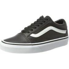 Vans UA Old Skool Black/True White Leather Trainers Shoes