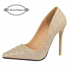 New Fashion Sexy Women Silver Rhinestone Wedding Shoes Platform Pumps