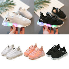 Kids Boys Girls Luminous LED Shoes Light Up Mesh Sport Shoes Sneakers Trainers