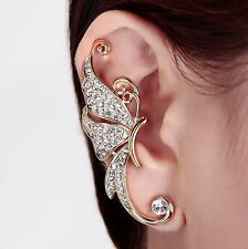 earring One Piece butterfly earring 2 Colors available crystal Free shipping