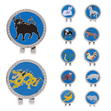 New Alloy Creative Chinese Zodiac Golf Hat Clip with Magnetic Ball Marker