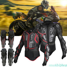 Motorcycle Motocross Race Full Body Armor Spine Chest Protective Jacket Gear CP
