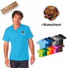 Polo Shirt Cotton embroidered Embroidery Dogue de bordeaux + Desired text