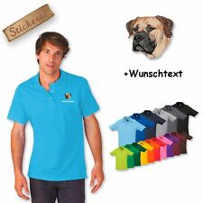 Polo Shirt Cotton embroidered Embroidery Boerboel + Desired text
