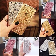For Apple iPhone Bling Luxury Sparkly Glitter Clear Silicone Case Skin Cover
