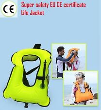 Life Jacket Inflatable adjustable Snorkeling Buoyancy Swimming Floating vest