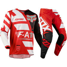Fox Racing NEW Mx 2018 180 Sayak Red White Black Motocross Dirt Bike Gear Set
