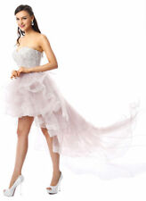 2017 A Line Sweetheart Empire Waist High Low Evening Prom Homecoming Party Gown