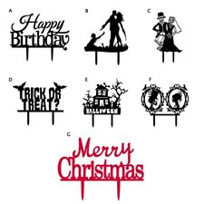 Birthday Wedding Halloween Christmas Party Plug-in Cake Decorations Tool Supply