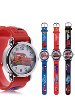 Disney cars 3D quartz watch kids Analogue rubber wrist watch birthday gift