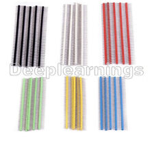 10PCS 40Pin 1x40P Male 2.54mm Breakable Pin Header Blue/Red/Yellow/Green/White