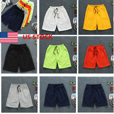 US Men Sport Short Pants Running Gym Fitness Jogging Basketball Casual Trousers
