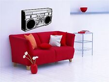 RETRO BOOMBOX / GHETTO BLASTER - WALL ART DECAL STICKER