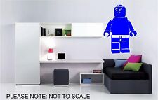 LEGO BRICK MAN - WALL ART STICKER - VINYL ART DECALS